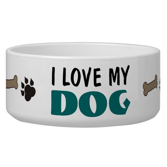 I Love My Dog Pet Bowl