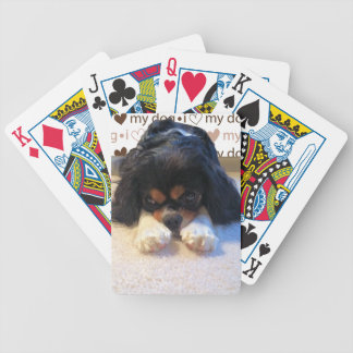 I love my dog playing cards