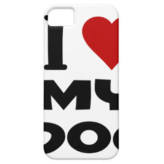 i love my dog png cover for iPhone 5/5S