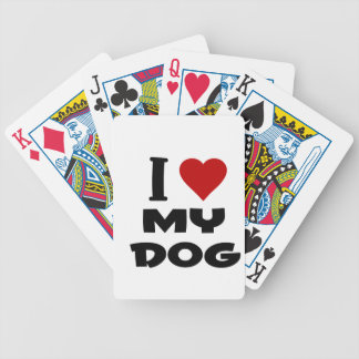 i love my dog png card decks