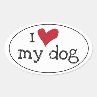 I Love My Dog Sticker