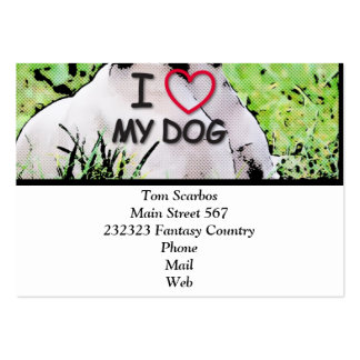i love my dog, toony pack of chubby business cards