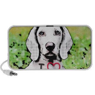 i love my dog, toony mini speaker
