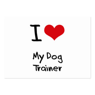 I Love My Dog Trainer Business Card Templates