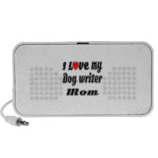 I Love My Dog writer Mom Laptop Speakers