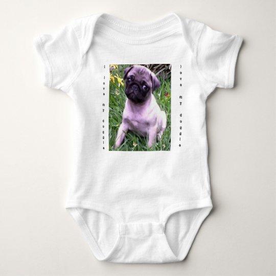 I love my doggie baby bodysuit