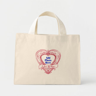 I Love My Dogs Photo Red Hearts Canvas Bag