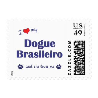 I Love My Dogue Brasileiro (Female Dog) Postage