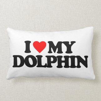 I LOVE MY DOLPHIN PILLOW