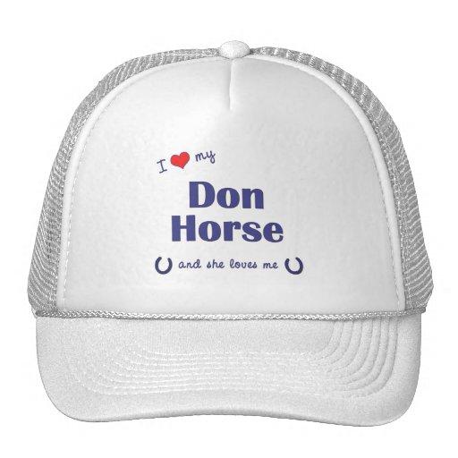 I Love My Don Horse (Female Horse) Mesh Hat