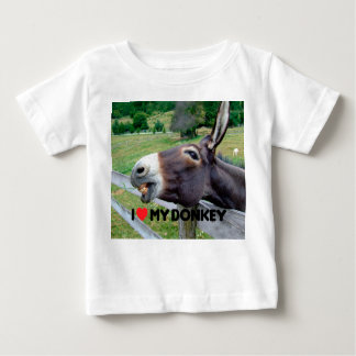 I Love My Donkey Funny Mule Farm Animal Baby T-Shirt