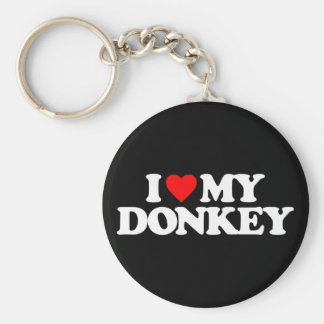 I LOVE MY DONKEY KEY RING