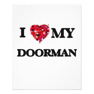 I love my Doorman 11.5 Cm X 14 Cm Flyer