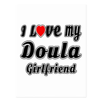 I Love My Doula Girlfriend Postcard