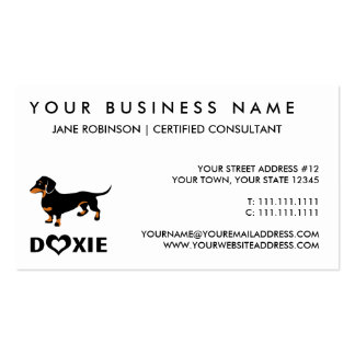 I Love My Doxie Dog - Cute Dachshund Pack Of Standard Business Cards