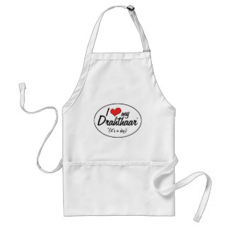 I Love My Drahthaar (It's a Dog) Standard Apron