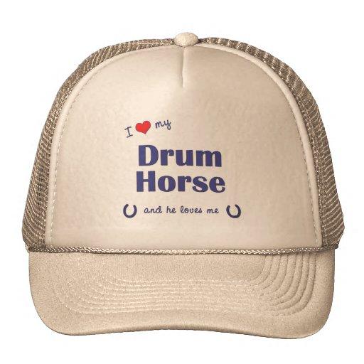 I Love My Drum Horse (Male Horse) Mesh Hats