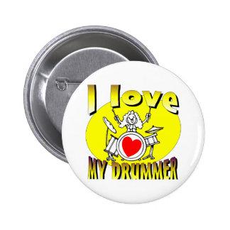 I Love My Drummer 6 Cm Round Badge