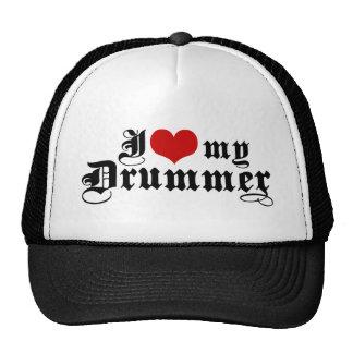 I Love My Drummer Cap
