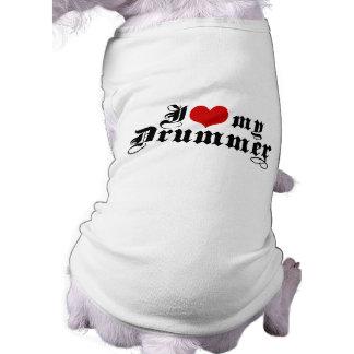I Love My Drummer Sleeveless Dog Shirt