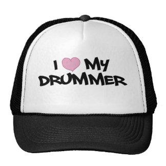 I Love My Drummer Mesh Hat