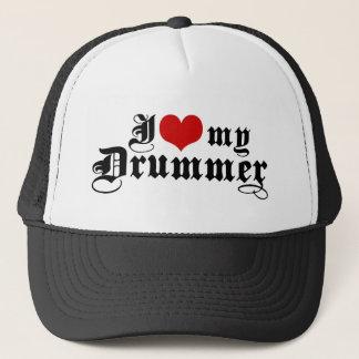 I Love My Drummer Trucker Hat