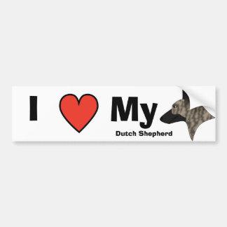 I Love My Dutch Shepherd Bumper Sticker