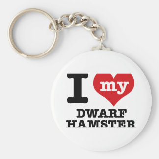 I Love my dwarf hamster Keychains