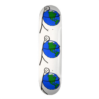 I love my earth children's drawing by healing love skate deck