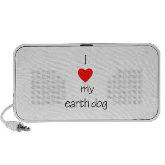 I Love My Earth Dog Travelling Speakers