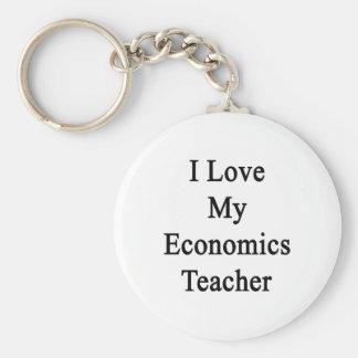 I Love My Economics Teacher Keychain