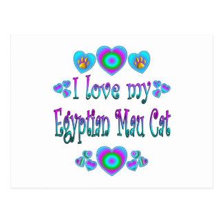 I Love My Egyptian Mau Cat Postcard