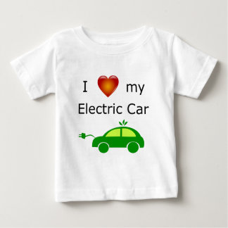 I Love My Electric Car Baby T-Shirt
