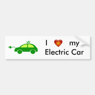I Love my Electric Car Bumper Sticker