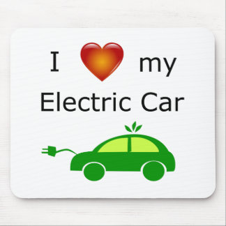 I Love My Electric Car Mouse Mat