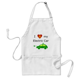 I Love My Electric Car Standard Apron