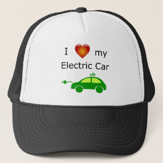 I Love My Electric Car Trucker Hat