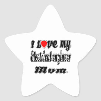 I Love My Electrical engineer Mom Star Stickers