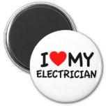 I love my electrician 6 cm round magnet