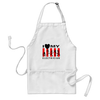 I Love My Electrician Adult Apron