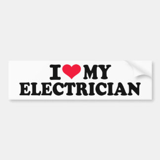 I love my Electrician Bumper Sticker