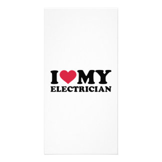 I love my Electrician Custom Photo Card
