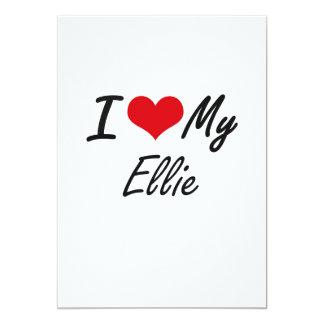 I love my Ellie 13 Cm X 18 Cm Invitation Card
