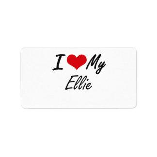 I love my Ellie Address Label