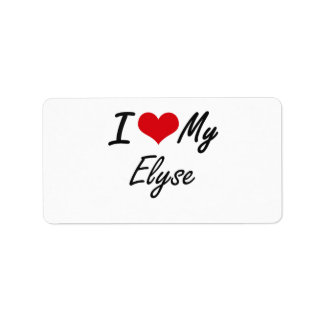 I love my Elyse Address Label