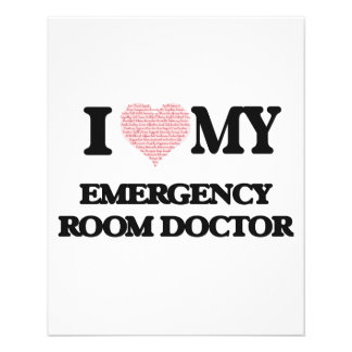 I love my Emergency Room Doctor (Heart Made from W 11.5 Cm X 14 Cm Flyer