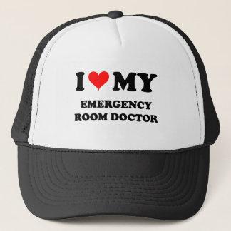 I Love My Emergency Room Doctor Trucker Hat