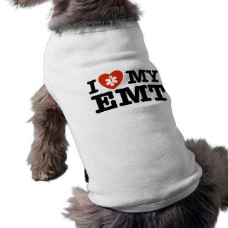 I Love My EMT Sleeveless Dog Shirt