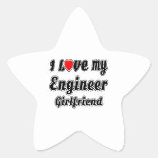 I Love My Engineer Girlfriend Star Sticker