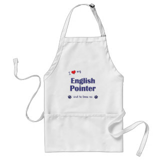 I Love My English Pointer (Male Dog) Standard Apron